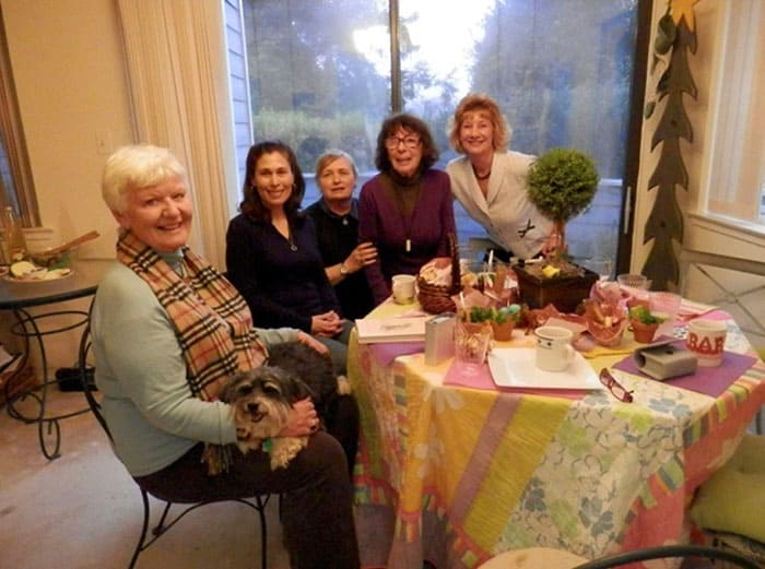 Grace--the lovely lady in glasses and v-neck sweater, gave a luncheon for me to meet her friends at her home in Reston, VA.