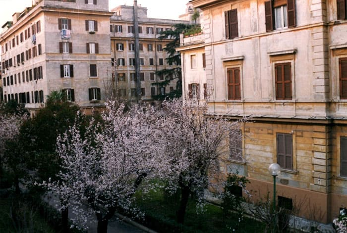 My last residence in Rome. This one was peaceful, clean and had a beautiful view from my apartment.