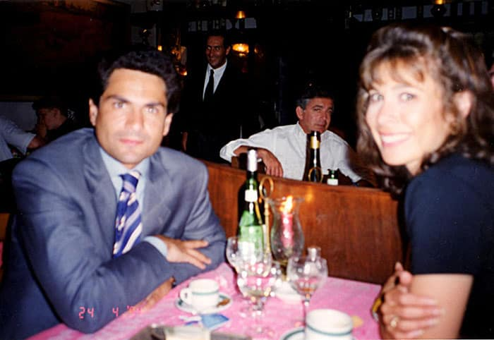 Dinner with Leonardo in Venice, the summer before I moved to Rome--his living there was a big part of the incentive to choose Rome!