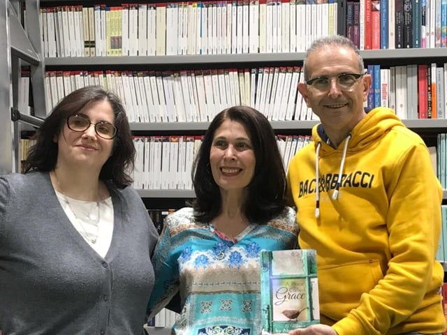 Alessia Alessia Marmocchi and Marcello Massatani, from the Anglo American Bookstore, who made the event so special. and Marcello, from the Anglo American Bookstore, who made the event so special.