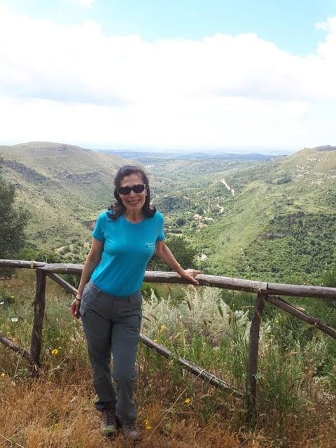 Hiking in Sicily.